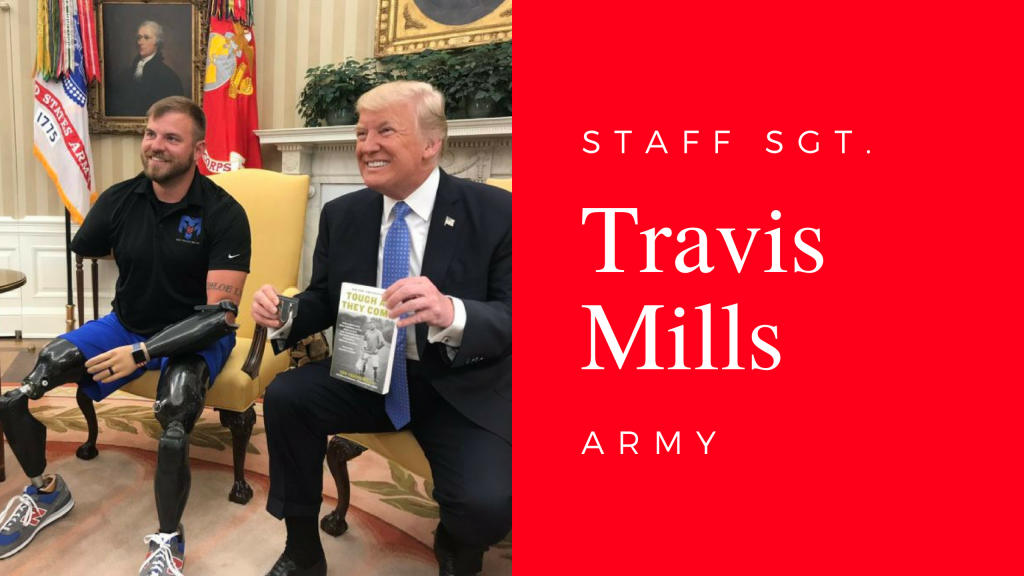 Bob Calvert interviews Staff Sgt. Travis Mills, U.S. Army